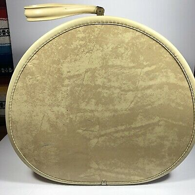 Vintage Samsonite Shwayder Bros Denver Hard Round Suitcase Luggage  Cream 4520