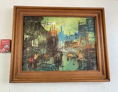 Vintage Original Oil Painting, Framed
