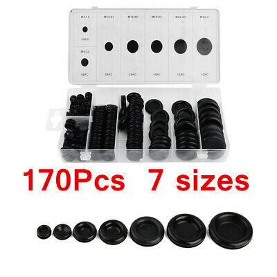 170PC Assortment Rubber Grommet Kit Set For Firewall Hole Wire Wiring Electrical