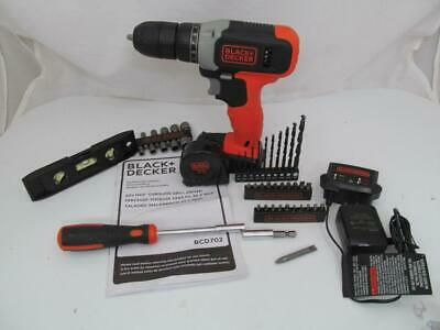 BLACK & DECKER 20V MAX DRILL DRIVER CHARGER 47 PIECES w/o battery BCD702