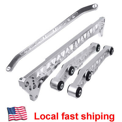 Black EBTOOLS Rear Lower Camber Arms,3 Colors Rear Lower Control Arm Subframe Brace Tie Bar fit For Civic RD SI HX 96-00