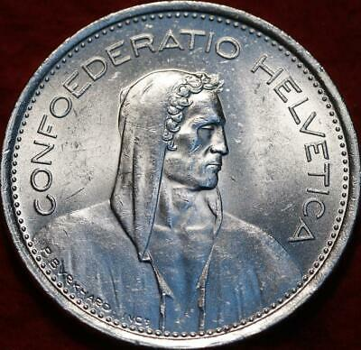 Uncirculated 1969-B Switzerland 5 Francs Silver Foreign Coin