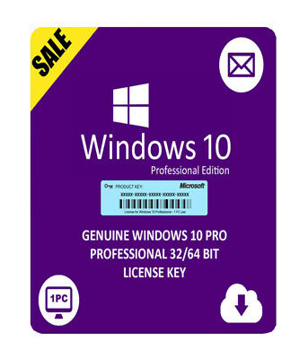 Windows 10 Pro & Home 32&64 bit Activation Key For 1 PC Genuine FAST DELIVERY