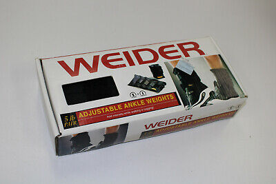 Weider 5lb pair of adjustable Ankle  Weights