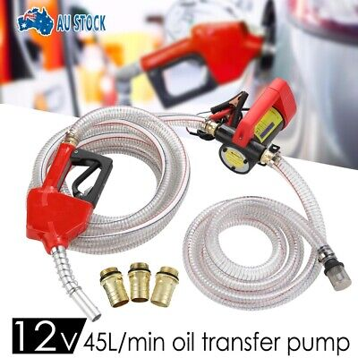 New 12V Car Engine Oil Transfer Extractor Pump Fluid Diesel Electric Siphon AU