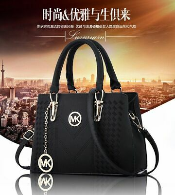 New Fashion Ladies Women Large Chain Shoulder Tote Bag Leather Designer Tote