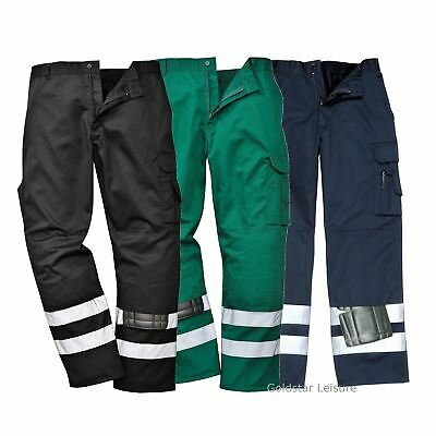 Portwest Iona Safety Trouser Pants Combat Workwear Non Shrinking Reflective Tape