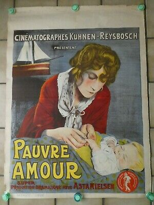 Vintage movie poster - R.W. - Pauvre Amour - 1932