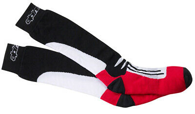 Alpinestars Road Racing Socks Long Gr. L/XXL schwar/rot Motorrad Socken
