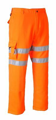 Portwest Rail Combat Trousers GORT Pants Workwear High Visibility Reflective
