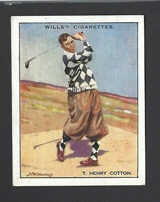 Wills - Famous Golfers - #3 T Henry Cotton
