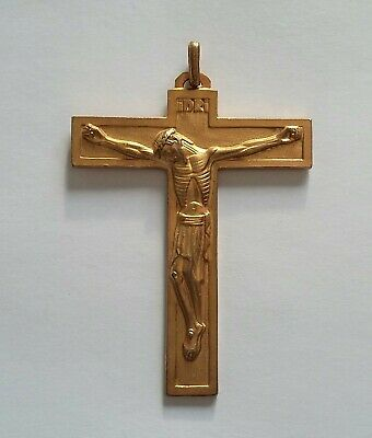 Old cross Antique Big/Large cross Crucifix Christ Bronze Golden