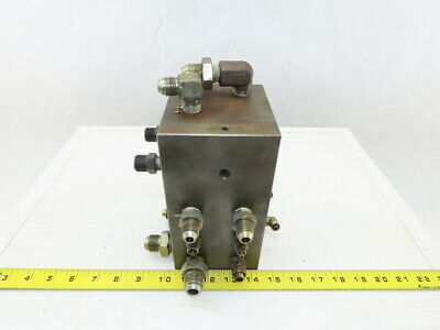 14 Port Hydraulic Manifold ISO 4401 Size Section For 4 Port Valve