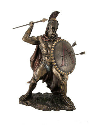 King Leonidas Greek Warrior of Sparta Bronze Finish Statue