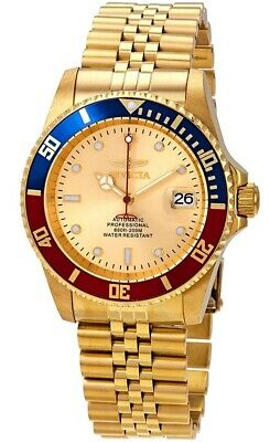 Invicta Pro Diver 24 Jewels Automatic Professional Gold Men's Watch 29183 SD