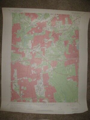 Antique 1967 Islip Smithtown Hauppauge New York Topographic Map Large Superb Nr