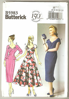 Butterick Sewing Pattern B5983 Miss Easy Retro Style Dresses Sz 6-14