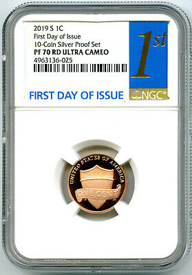 2019 S Lincoln Penny Ngc Pf70 Rd Ucam First Day Issue Proof Cent 1St Blue Label