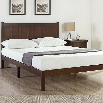 Zinus Queen Double King Single Solid Timber Bed Frame Platform Mattress Base
