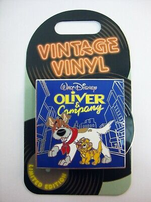 DISNEY Parks Pin of the Month VINTAGE VINYL OLIVER and Company LE3000
