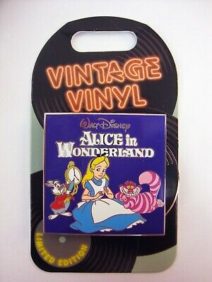 DISNEY Parks Pin of the Month VINTAGE VINYL ALICE in Wonderland LE 3000