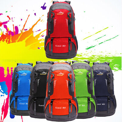 60L Large Waterproof Camping Backpack Outdoor Sport Hiking Travel Rucksack Bag