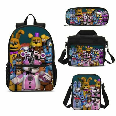 Five Nights at Freddy's Student Backpack Lunch Bag Sling Pen Case Kids Gifts Lot