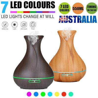 LED Essential Oil Diffuser Ultrasonic Humidifier Air Aroma Purifier Aromatherapy