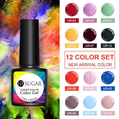 UR SUGAR 12 Colors Set UV Gel Nail Polish Glitter Soak Off Party Gel Varnish
