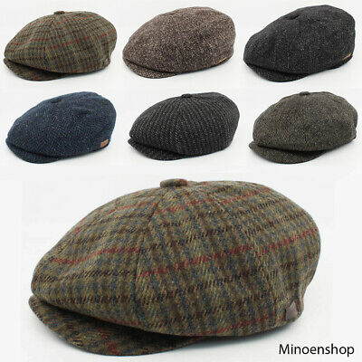 Mens Quality Wool Mix Peaky Blinders Hat Gatsby Newsboy Tweed Cap Thomas Shelby