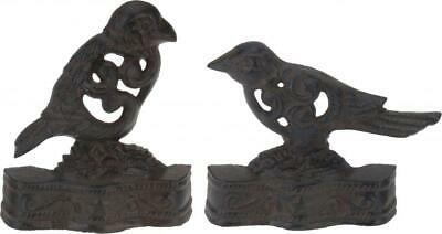 Vintage Retro Bird Design Decorative Cast Iron Door Stop Stopper Wedge