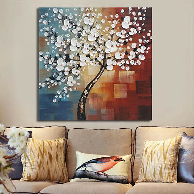 Framed Abstract Flower Tree Canvas Print Oil Painting Picture Home Art Decor K