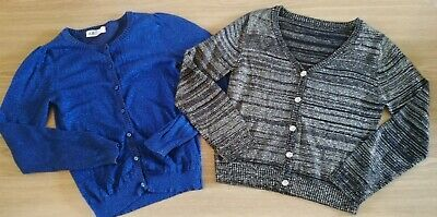 Gorgeous Nutmeg & H&M Sparkly Party Christmas Cardigans Age 7-8 Years