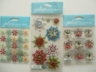CHIPBOARD SNOWFLAKES Christmas JOLEE/'S BOUTIQUE STICKERS
