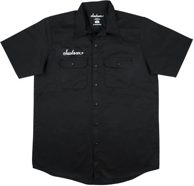 Genuine Jackson Logo Black Men's Workshirt, Size Large #2999578606