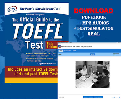 The Official Guide to the TOEFL Test With 5th Edition P.D.F+Test Simulator+Audio