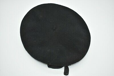 Genuine French Vintage Black Veritable Commando Beret, Wool Size 60