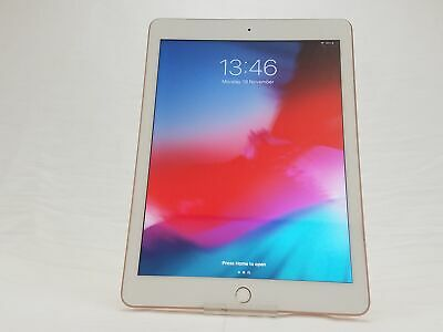 "Apple iPad 6th Gen 9.7"" A1893 WiFi Only 128GB Gold No Touch ID"