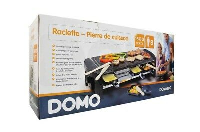 Domo Do 9039 G Raclette-Steingrill 8 Personnes 1300 W
