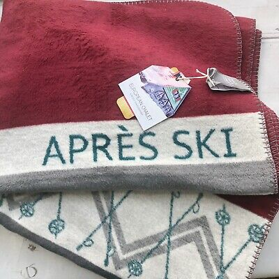 PAD European Chalet winter Thick Throw Blanket Ski Lodge Holiday Germany New