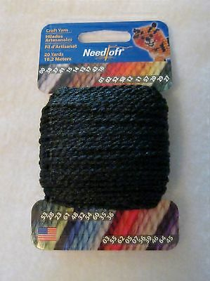 NEEDLOFT CRAFT YARN RED #1 for PLASTIC CANVAS by COTTAGE MILLS