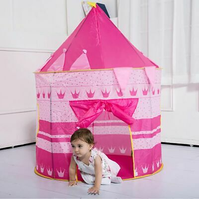 Kids Play Tent pop-up Girl Wizard Princess Castle Playhouse In/Outdoor Xmas Gift