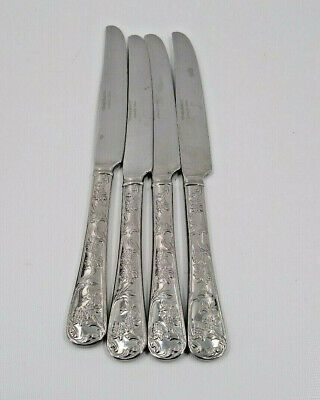 6 NEW REED /& BARTON Stainless Flatware QUEENS GARDEN Lot Set TABLE DINNER KNIVES