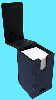 ULTRA PRO ALCOVE PREMIUM SUEDE TOWER SAPPHIRE Flip DECK BOX Card Storage Case