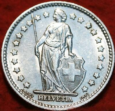1956 Switzerland 1 Franc Silver Foreign Coin