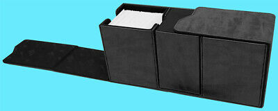 ULTRA PRO PREMIUM ALCOVE SUEDE JET BLACK VAULT Deck Box Card Storage Case mtg