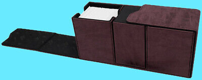 ULTRA PRO PREMIUM ALCOVE SUEDE RUBY VAULT Deck Box Card Storage Case mtg red ccg