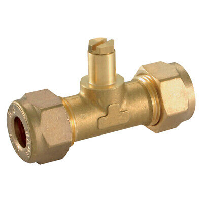 """Wade Brass Compression Fittings - 3/8"""" Od Test Point Fitting Union 9-00912"""