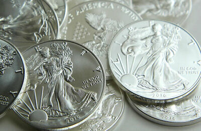 4 COINS!!! 2016 SILVER AMERICAN EAGLE 1 oz SAE ROUNDS from ORIGINAL MINT ROLL!!!