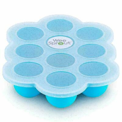Silicone Baby Food Freezer Tray with Clip-on Lid by WeeSprout - Perfect Storage